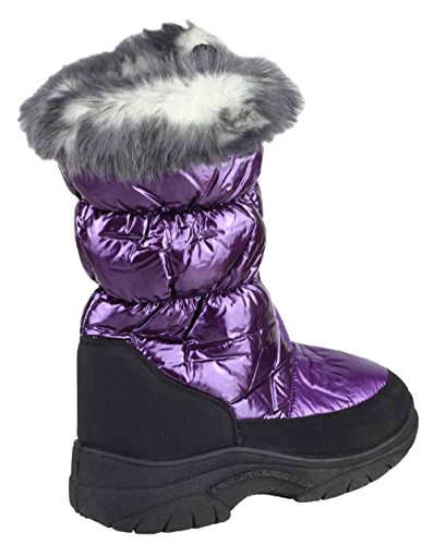Mirak Glacier Waterproof Ladies Boot Wellingtons Purple V2jF0JBrNS