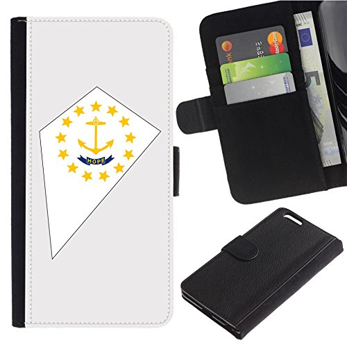 [Map and State Flag of RI Rhode Island] for LG Aristo Case/LG Phoenix 3 / K8 2017 / Fortune/Risio 2 / K4 2017 / V3, Flip Leather Wallet Holsters Pouch Skin Case