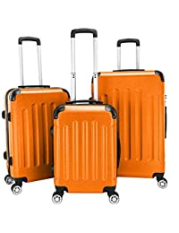 "3-in-1 Portable ABS Trolley Case 20"" / 24"" / 28"" Orange"