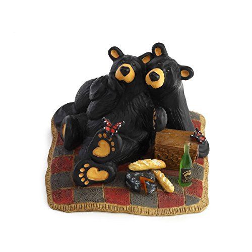 Bear Collectible Figurine (Bearfoots Bear Butterfly Picnic Figurine)