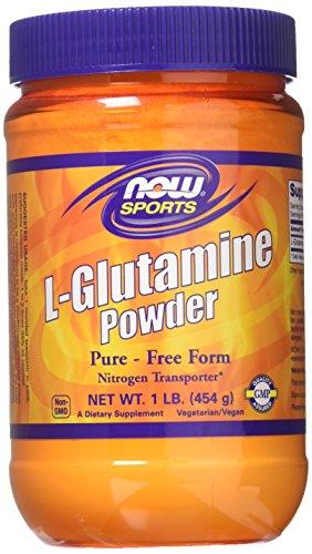NOW Foods L-Glutamine Pure Powder, 1-Pound (Pack of 2)