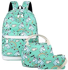 Backpack for School Girls Teens Bookbag Set Kids School Bag 15