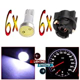 mitsubishi 3000gt speedometer - cciyu 6x White Instrument Panel Dash light COB LED Light Bulbs With PC74 T5 74 Sockets 207 286 306 For 2002 Honda Accord 2.3L 3.0L 2002-2004 Dodge Dakota 5.9L 4.7L 3.9L 2.5L Caravan 3.3L 2.4L