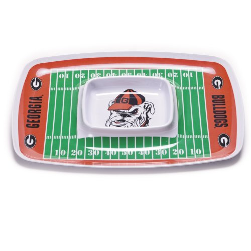 NCAA Georgia Bulldogs Melamine Chip and Dip Tray (Georgia Chip)