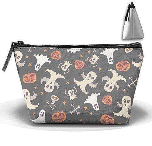 jiajufushi Halloween Ghost Cosmetic Bag Crazy Young Trapezoidal Strorege Bag Creative Cosmetic Pouch -