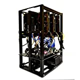 (US) FLOW 6.1 GPU Mining Rig Open Air Frame Computer Case Chassis with 6 USB Risers - Ethereum ETH Bitcoin BTC