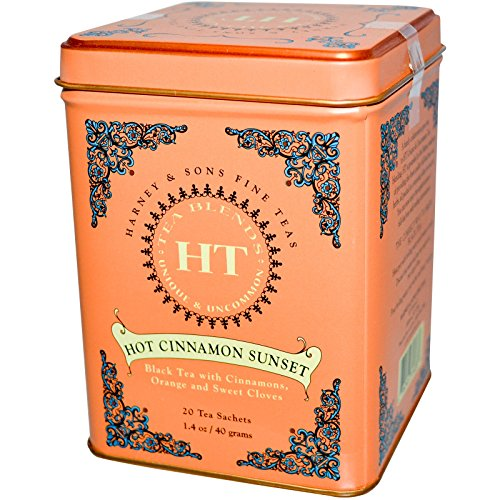 40 Sachets (Harney & Sons, Hot Cinnamon Sunset, 20 Tea Sachets, 1.4 oz (40 g)( 1 Pack ))