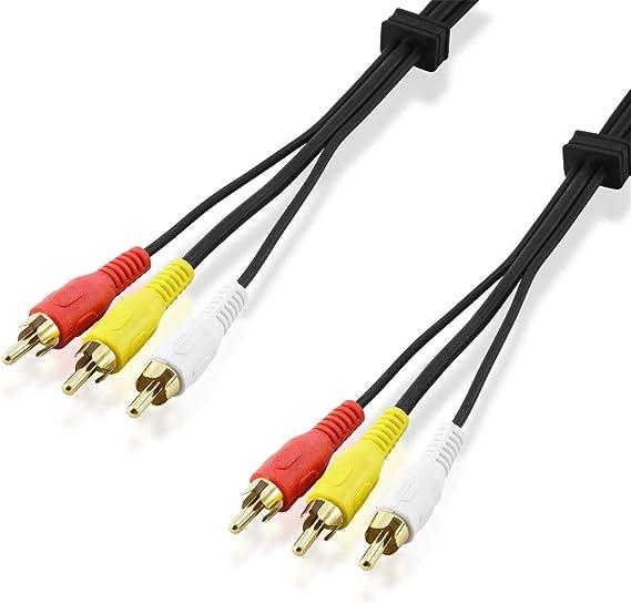 Bestplug 15 Meter Rca Audio Video Kabel 3 Cinch Elektronik