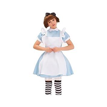 1d38eff330a New Blue Alice du Pays des Merveilles Lolita Maid Cosplay Costume Ensemble  de tablier
