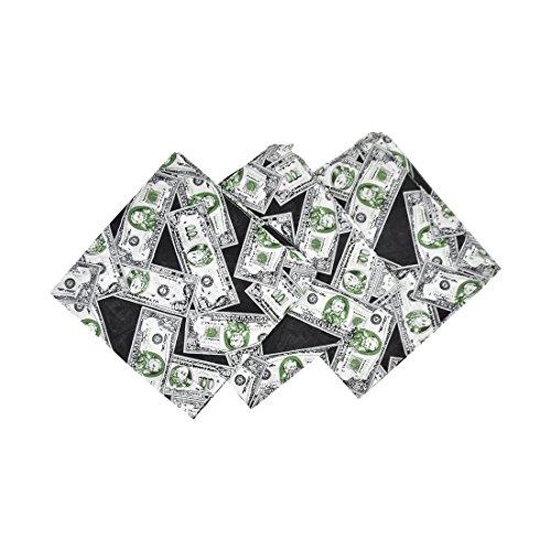 Motique Accessories Set Of 3 Large Cotton Bandanas - Dollar Bill Print