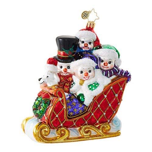 Christopher Radko Snow Family Fun Snowmen Christmas Ornament