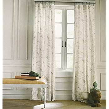 Tommy Hilfiger Mission Paisley Scrolls Boteh Pattern Window Panels 50 By  96 Inch Set Of 2 Floral Paisley Scrolls Print Window Curtains Hidden Tabs  Gray ...