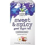Good Earth Herbal Tea, Sweet & Spicy Good Night, Caffeine Free, 18 Count Tea Bags (Pack of 6) (Packaging May Vary)