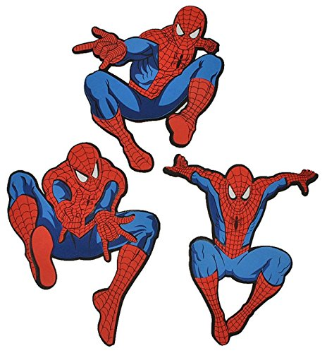 3 tlg. Set 3-D Wandtattoo Spiderman XXL Moosgummi - Kind Kinder Amazing Spider Man Spinne Spider-Man Wandsticker Wanddeko