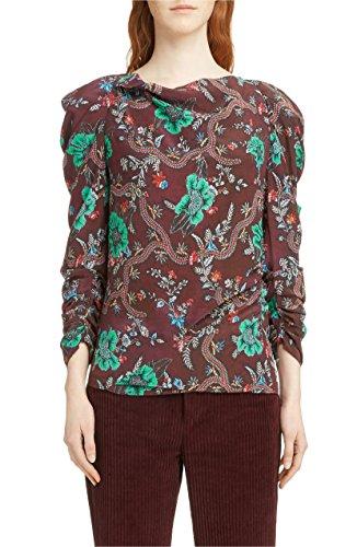 困惑した大砲ヘクタール[イザベル マラン] レディース シャツ Isabel Marant Floral Print Ruched Sleeve [並行輸入品]