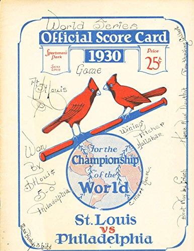 Series 1930 Bowl - 1930 World Series St. Louis Cardinals vs Philadelphia Athletics Program EX