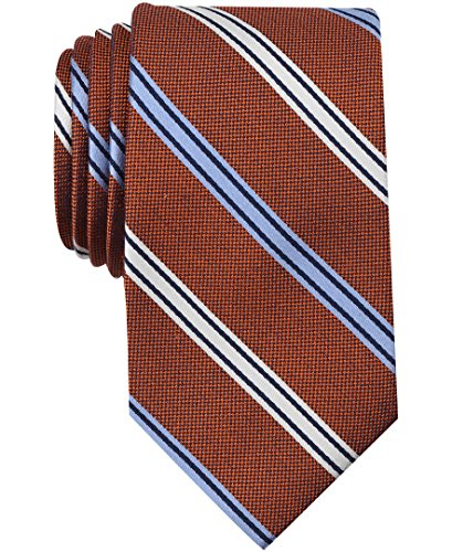Nautica Men's Bilge Stripe Tie Accessory, -tangerine, One Size (Tie Dress Tangerine)