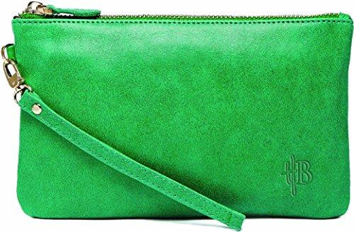Pochette ET chargeur de téléphone Vert émeraude - Mightypurse