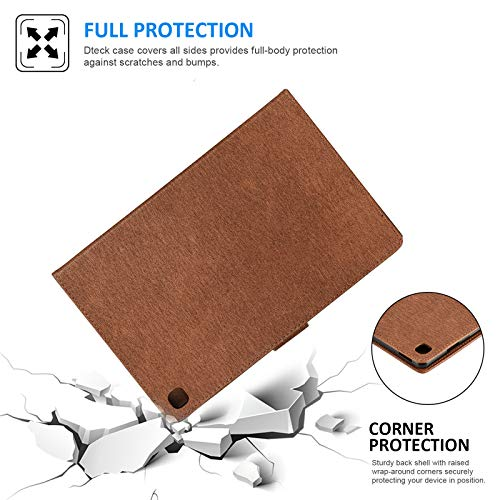 Dteck Galaxy Tab A 10.1 Case 2019 Tablet SM-T510/T515, [3D Embossed Butterfly] Slim Leather Folio Stand Cover with Magnetic Clasp for Samsung Galaxy Tab A 10.1 Inch SM-T510, Brown