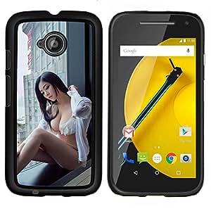 """Be-Star Único Patrón Plástico Duro Fundas Cover Cubre Hard Case Cover Para Motorola Moto E2 / E(2nd gen)( Sexy japonesa Pin Up Girl"""" )"""