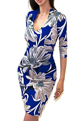 Buy blue gray dress - 7