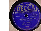 Bob Crosby & His Orchestra Very Nice Original 10 Inch 78 rpm - The Lady's In Love With You(from Movie
