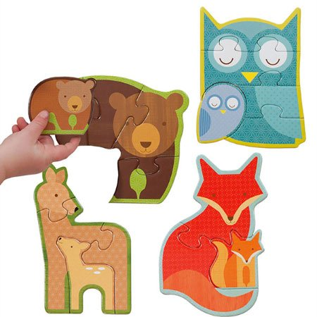 Beginner Puzzle - Forest Babies (Petit Collage Owl)