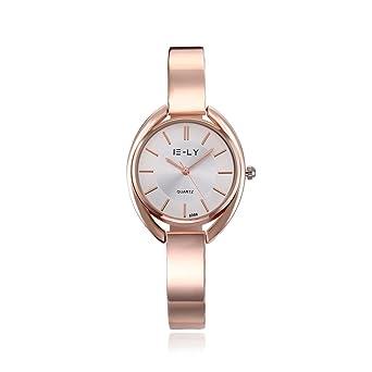 7d7417479a Rockyu 人気 腕時計 おしゃれ レディース ピンクゴールド 白 ブランド かわいい 時計 (白金)