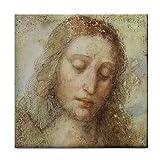 Head of Christ By Leonardo DaVinci Tile Trivet