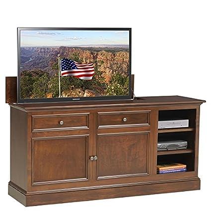 TVLiftCabinet Under The Window TV Cabinet, Brown