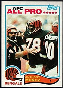 Football NFL 1982 Topps #51 Anthony Munoz RC Bengals