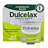 Dulcolax Overnight Relief Laxative Tablets, 200 ct. (pack of 6)