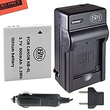 NB-4L Battery & Charger Kit Canon Vixia mini PowerShot Elph 100 Elph 300 Elph 310 HS SD1100 IS SD1400 IS Digital Camera + More!!
