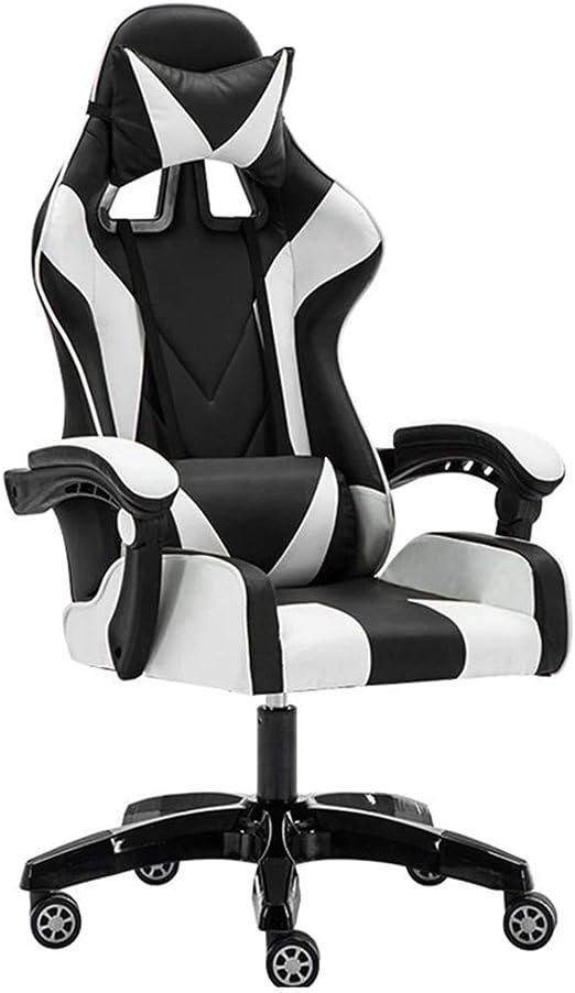 KJRJZY Sillas de masaje de la silla del juego de ordenador PC ...
