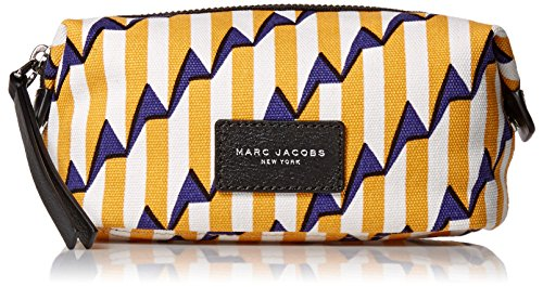 Marc Jacobs Arrow Head Printed Biker Cosmetics Landscape Pouch, Pyramid Yellow Paris Multi, One Size by Marc Jacobs