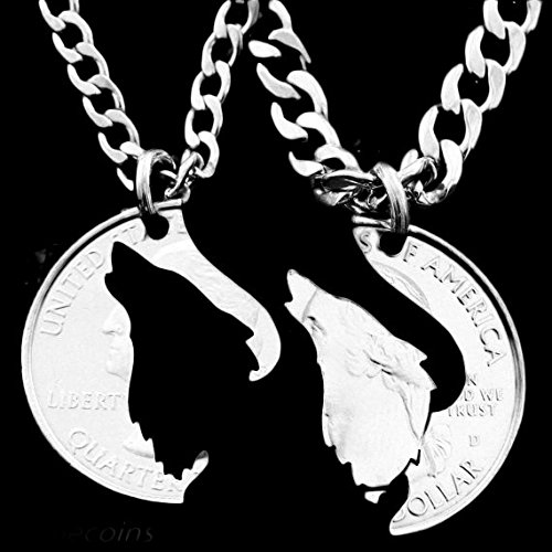 SENFAI Howling Wolf Pendant His and Hers Matching Couples Jewelry 18