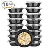 : Glotoch Bento Box, 24 Ounce Wholesale 1 Compartment Food Storage Containers for Meal Prep-Microwave, Freezer & Dishwasher Safe - Eco Friendly Safe Food Container, Pack of 10