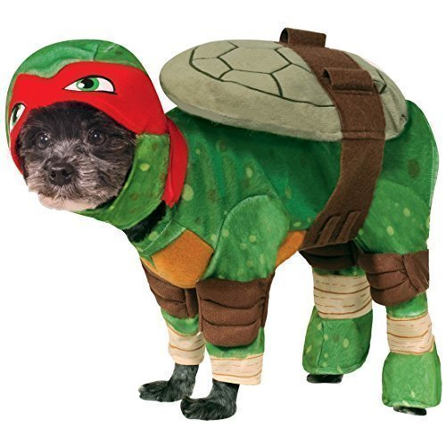 Pet Dog Cat Raphael Teenage Mutant Ninja Turtles Halloween Film Cartoon Fancy Dress Costume Outfit Clothes Clothing (Large, Red (Raphael)) -