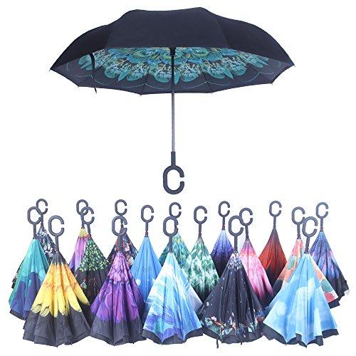 Reverse Folding Inverted Umbrella Carrying