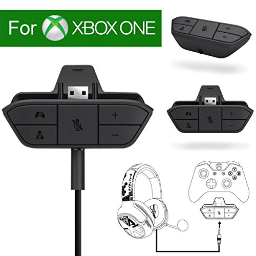 Xbox Stereo Headset Adapter Audio Game For Microsoft One Controller Dr - Chat And Synchronous One Stereo Headphone Accreate Best Converter ()