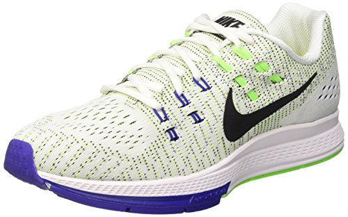 5160549edfa7 Galleon - Nike Mens Air Zoom Structure 19 White Black Elctrc Green Cncrd Running  Shoe 10 Men US