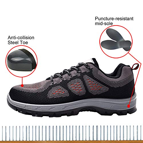 Safety Work Shoes Optimal Black Steel Shoes Toe Shoes Men's tqwBnB5zxv