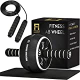 Fitness Invention Ab Roller Wheel - 3-in-1 AB Roller Kit with Premium...