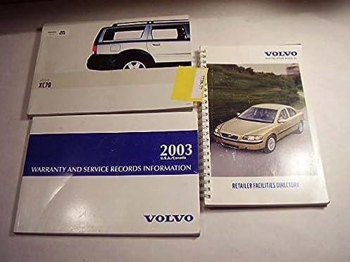 2003 volvo xc70 owners manual volvo amazon com books rh amazon com 2003 Volvo XC70 Radio 2003 volvo xc70 owners manual pdf