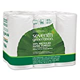 Seventh Generation, 100% Recycled Paper Towels, 140 sheets, 6 rolls
