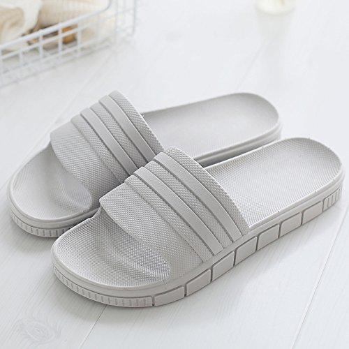 di soggiorno con non una bagno slip balneare 40 coppie grigio fankou antiscivolo estate elegante scarpe vasca home e una Pantofole indoor maschio spiaggia da fresco wzwqZx0Tnp