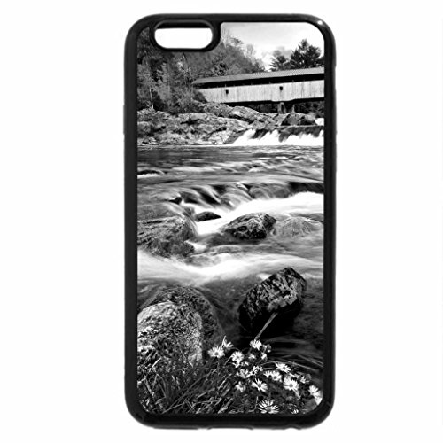 iPhone 6S Plus Case, iPhone 6 Plus Case (Black & White) - WILD AMMONOOSUC RIVER