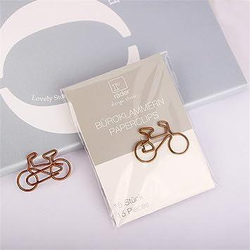 Burofin Papeles de bicicleta clips de papel creativos, 30 * 20 mm ...
