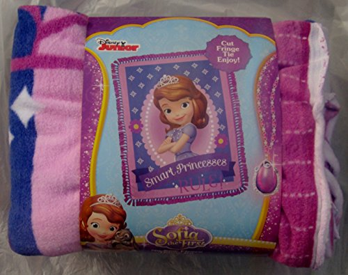 No Sew Throw Fleece Kit - Sofia the First - Smart Princesses Rule! by Disney