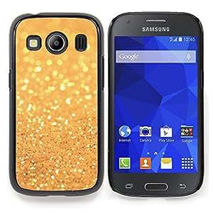Eason Shop / Premium SLIM PC / Aliminium Casa Carcasa Funda Case Bandera Cover - Glitter Sparkling Yellow Sun - For Samsung Galaxy Ace Style LTE/ G357